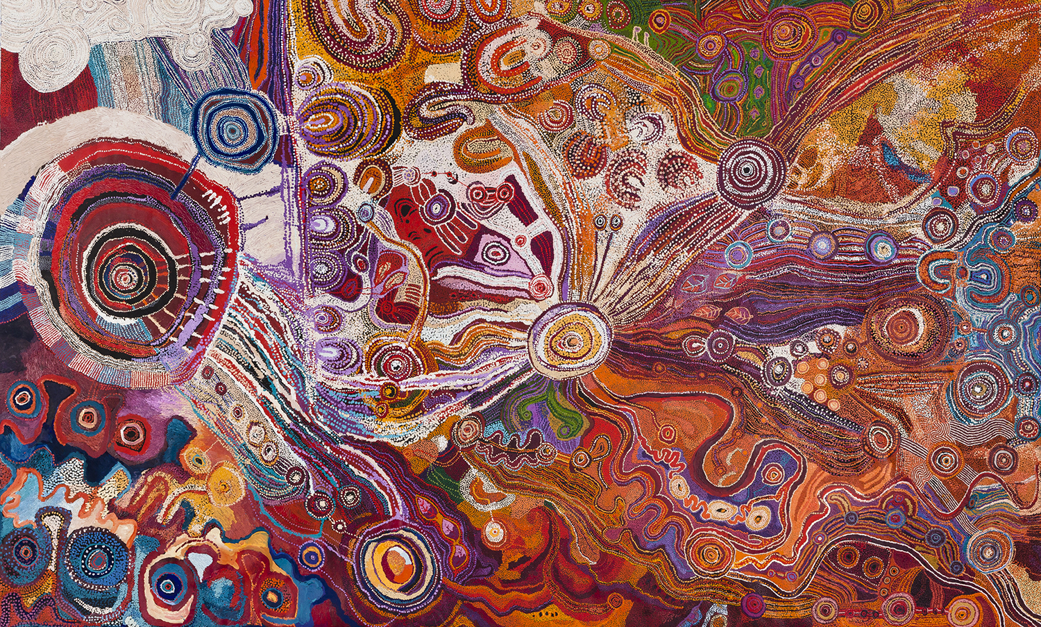 APY Lands women's collaborative painting
