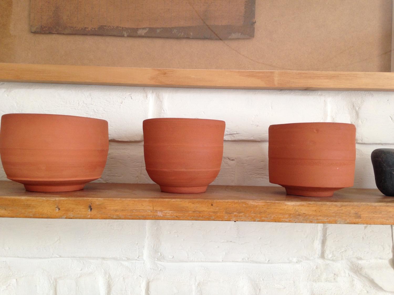 terracotta tea bowls