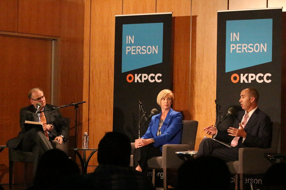 The two L.A. County Supervisorial candidates agreed on most major goals, but differed on how to get there. | Photo by Christian Brown