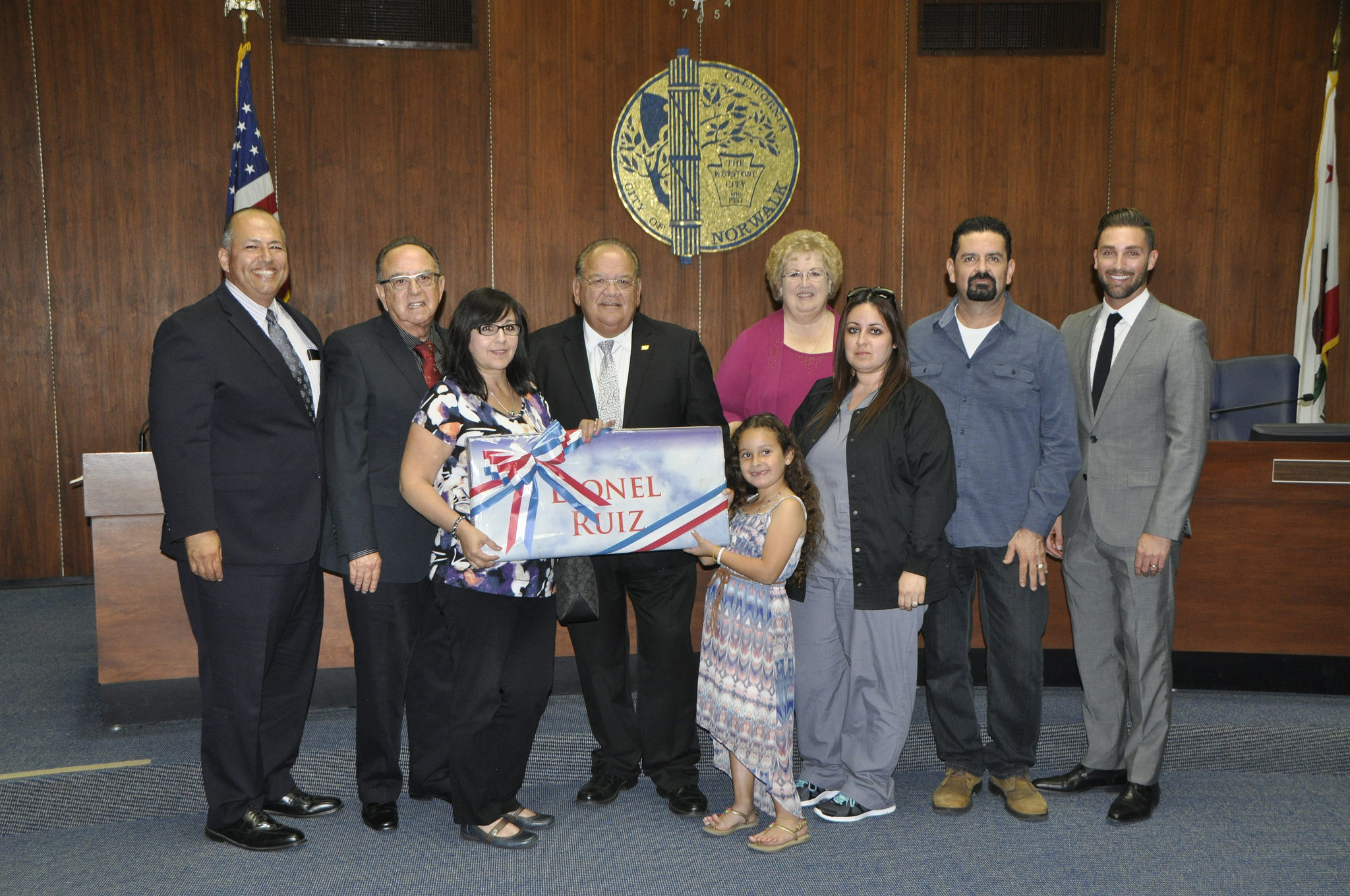 The last military family to receive a banner in Norwalk occurred in October 2016. City of Norwalk photo