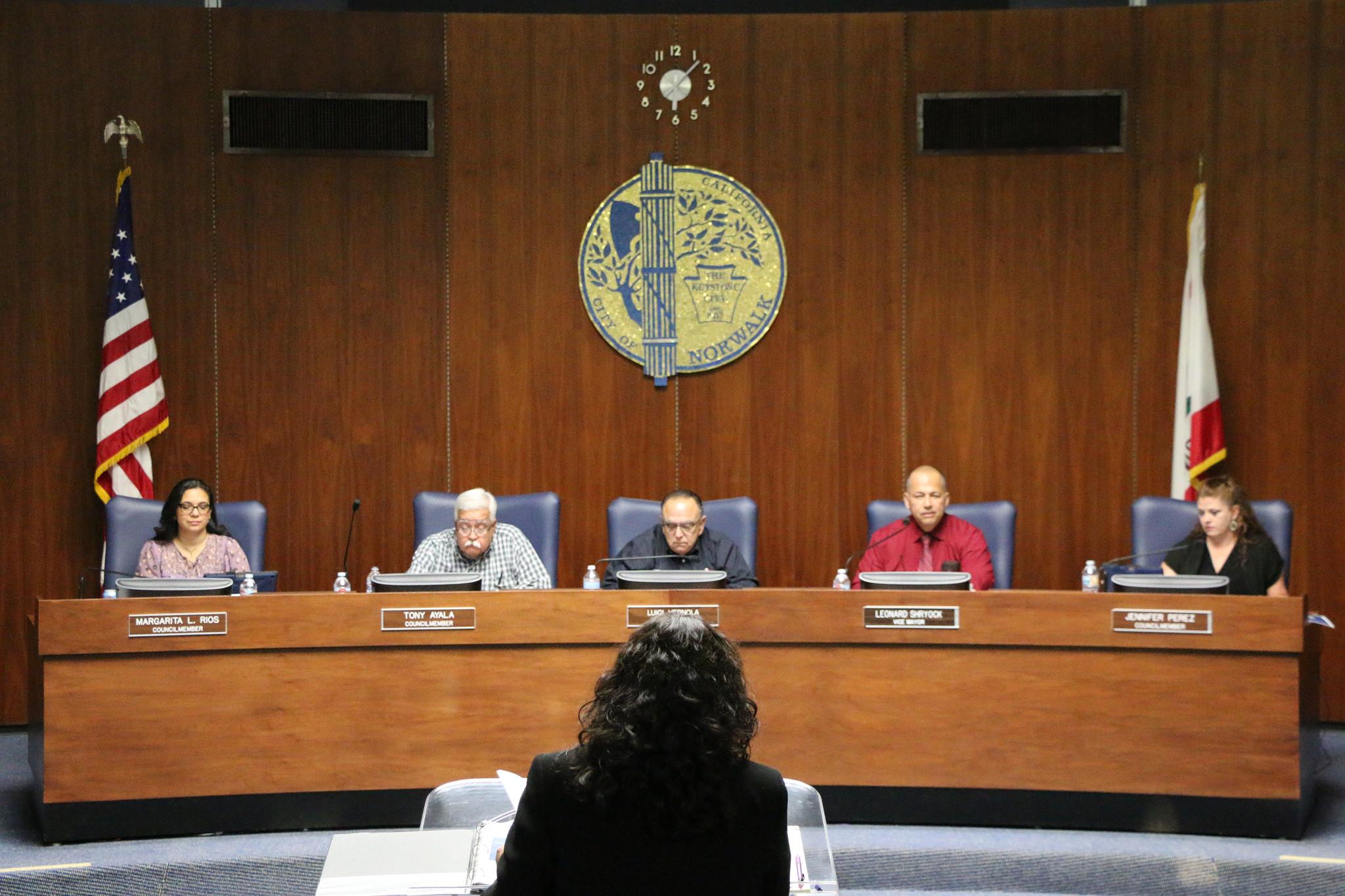 Norwalk city council members. City of Norwalk photo