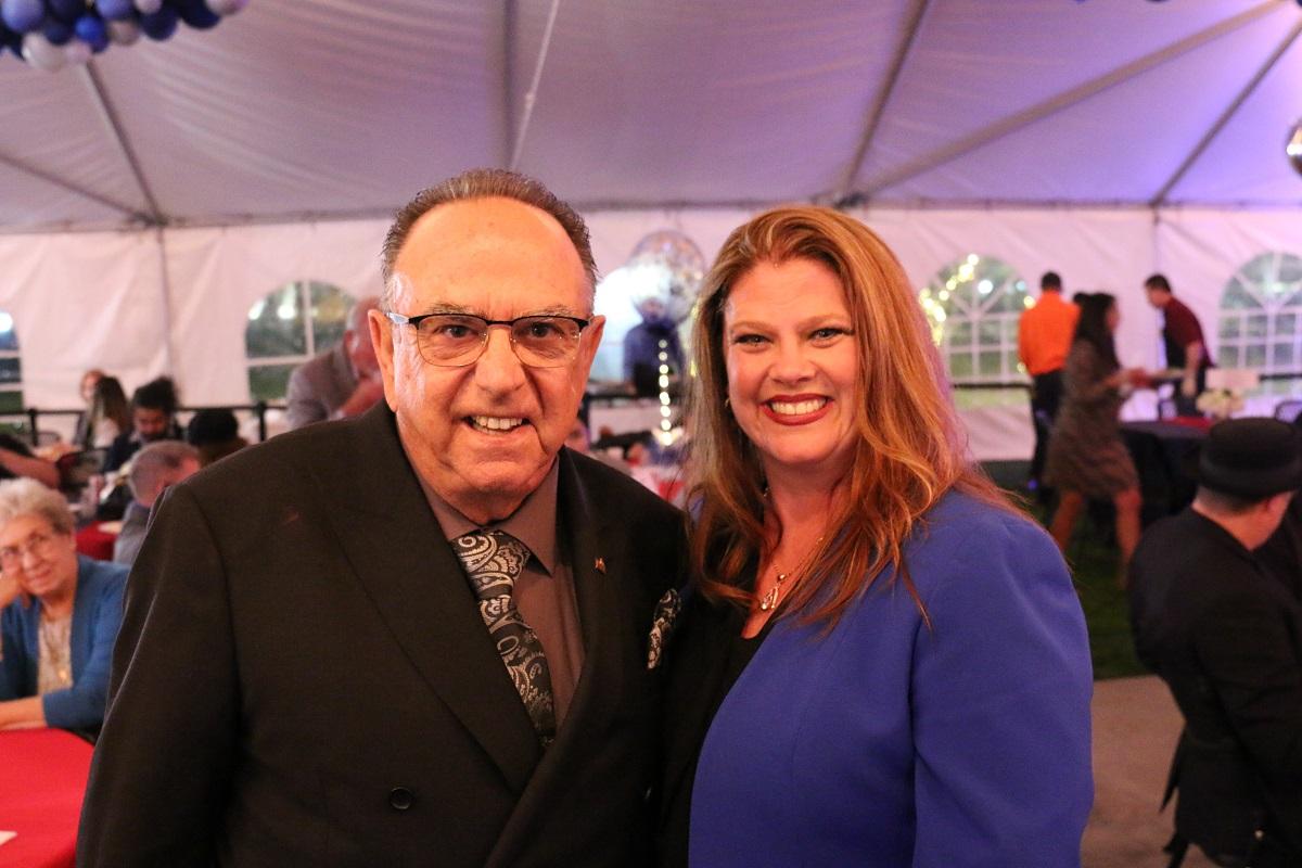 Luigi Vernola and Jennifer Perez after Tuesday's meeting. Photo courtesy city of Norwalk