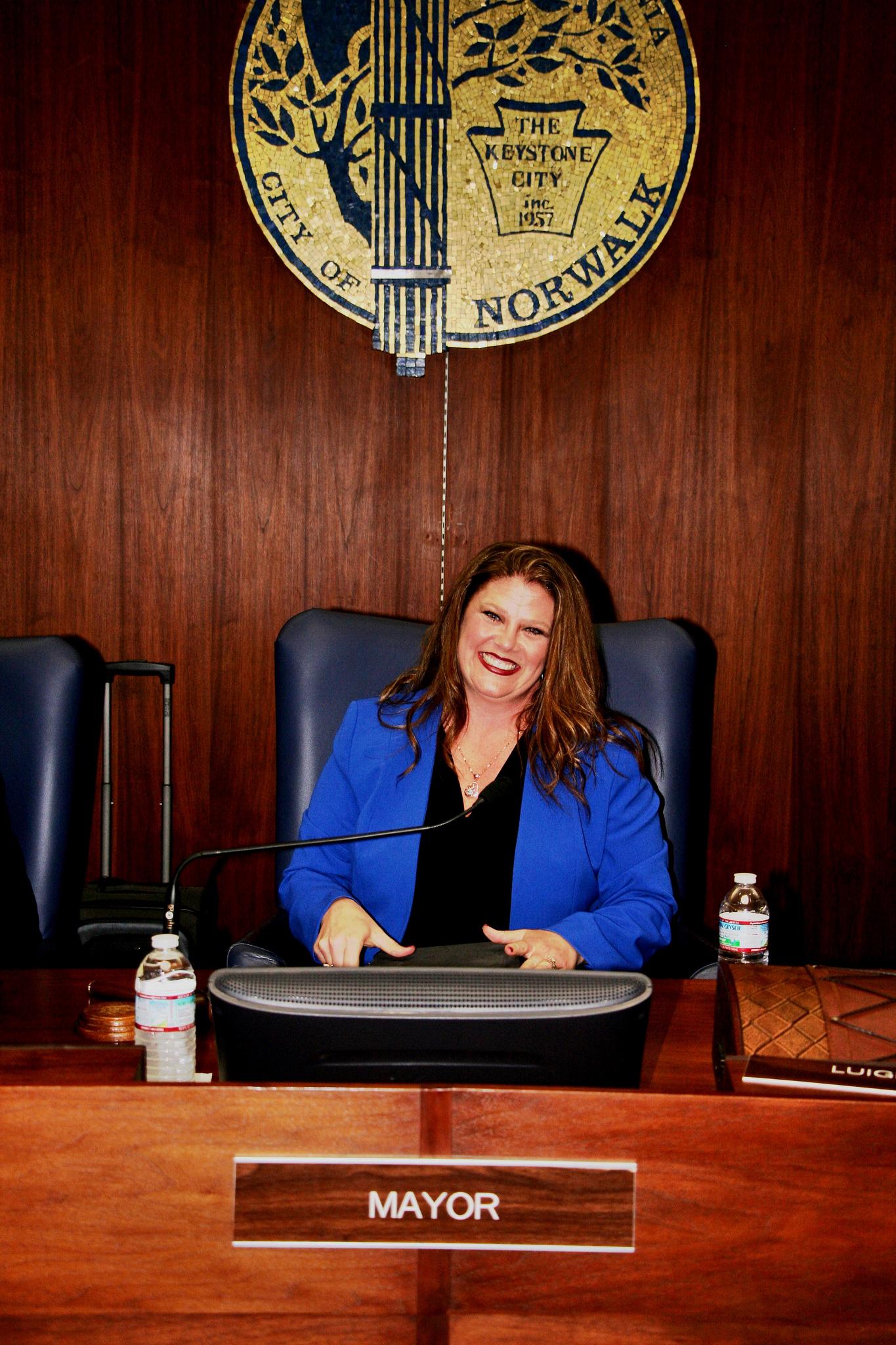 Norwalk mayor Jennifer Perez on Tuesday. Photo courtesy city of Norwalk