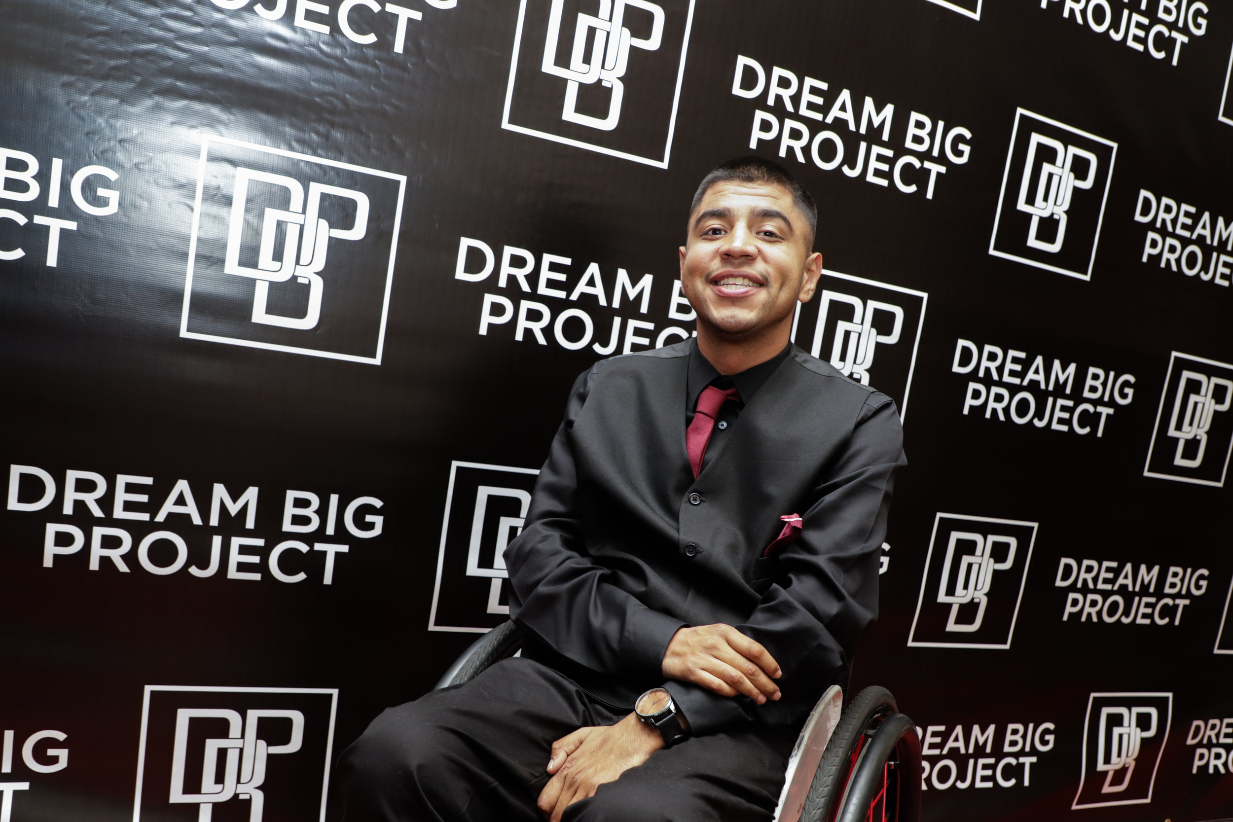 Miguel Rivera at last week's scholarship ceremony. Photos by William Odis Martin
