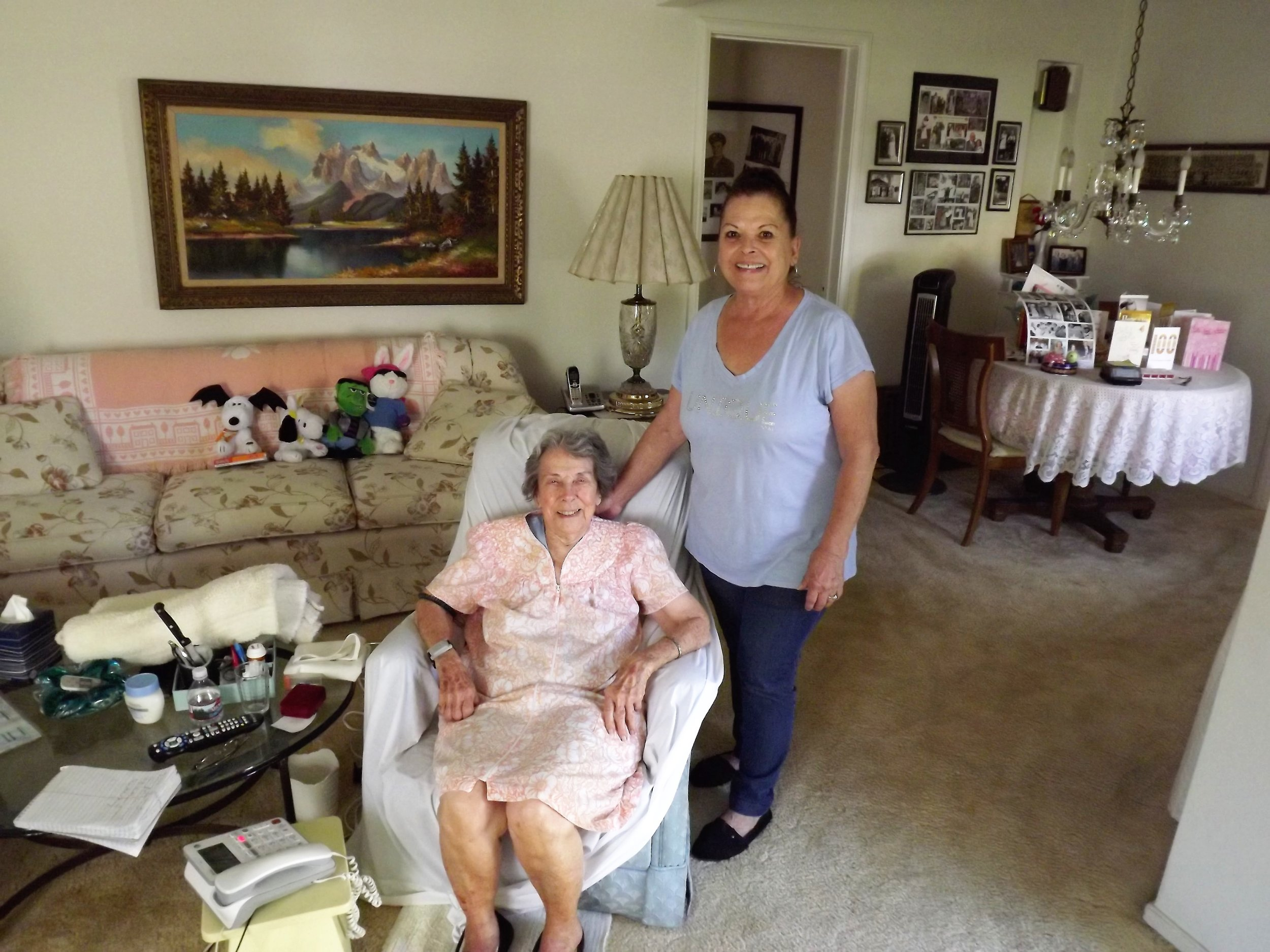 Rosie Viega with her neighbor, Judy Alvarez. Photos by Raul Samaniego