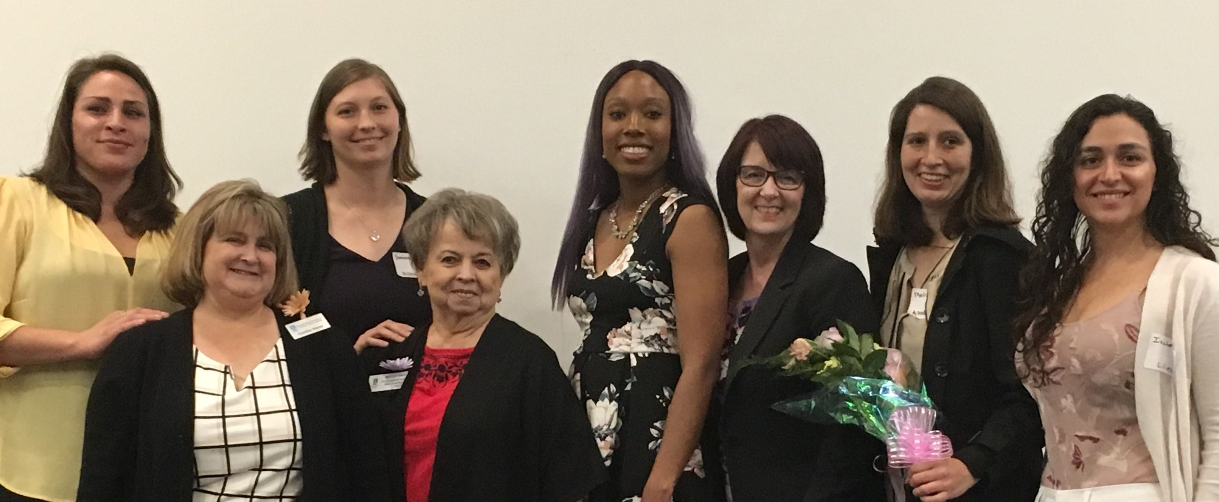 L to R: Ashley Ross, Soroptimist President Cynthia Hayes (front), Desiree Montoya, Soroptimist Live Your Dream Chair Marilyn Smith (front) Shaunise Price, Soroptimist Desert Coast Region Governor Laurel Lanham, Melissa Hamby, Deborah Ixchel Perez