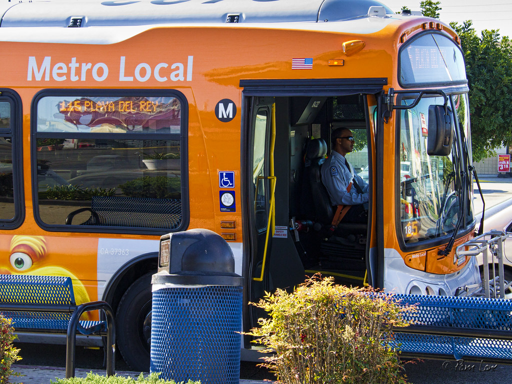Metro's 115 bus line, which runs east-west on Firestone Boulevard from the Norwalk Green Line Station to Playa del Rey. Photo by Pam Lane/DowneyDailyPhotos.com