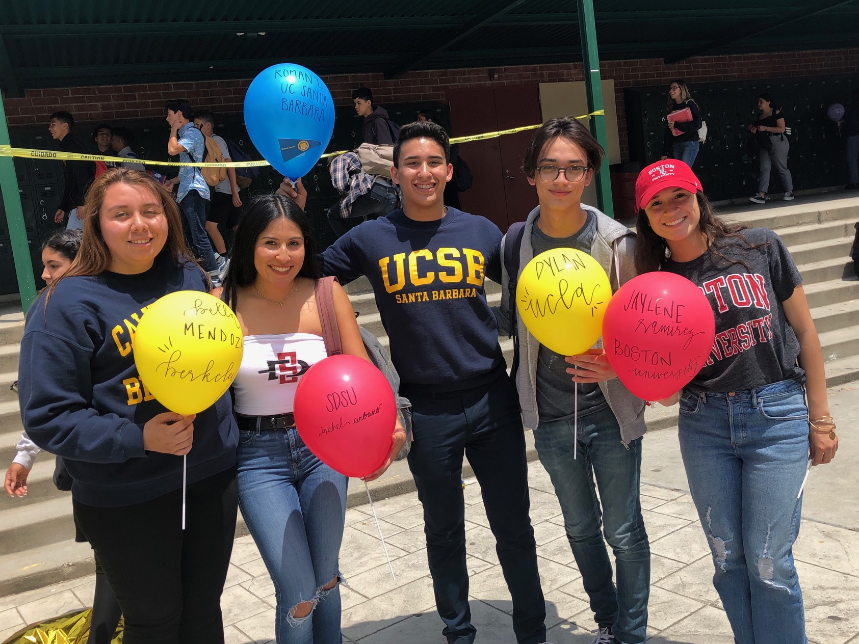 Whittier Union seniors celebrate going to college after they graduate during College Signing Day, which took place at each comprehensive high school during the first week of May.