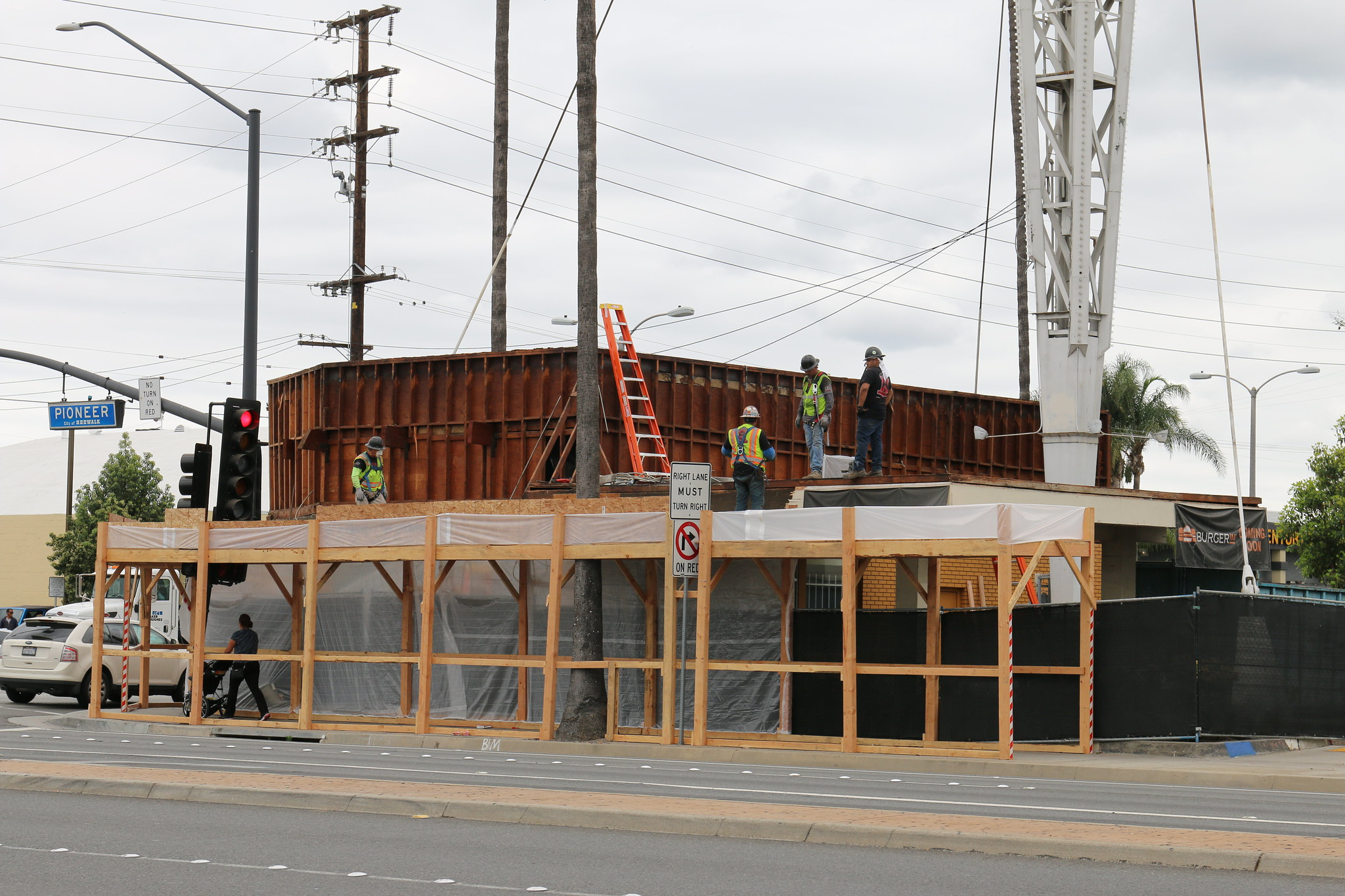 Construction of the new Burger IM restaurant in Norwalk. Photo courtesy City of Norwalk