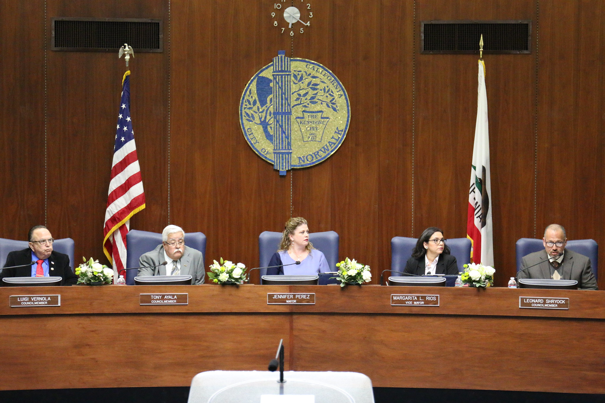 The City Council in March 2019. Photo courtesy city of Norwalk/Flickr