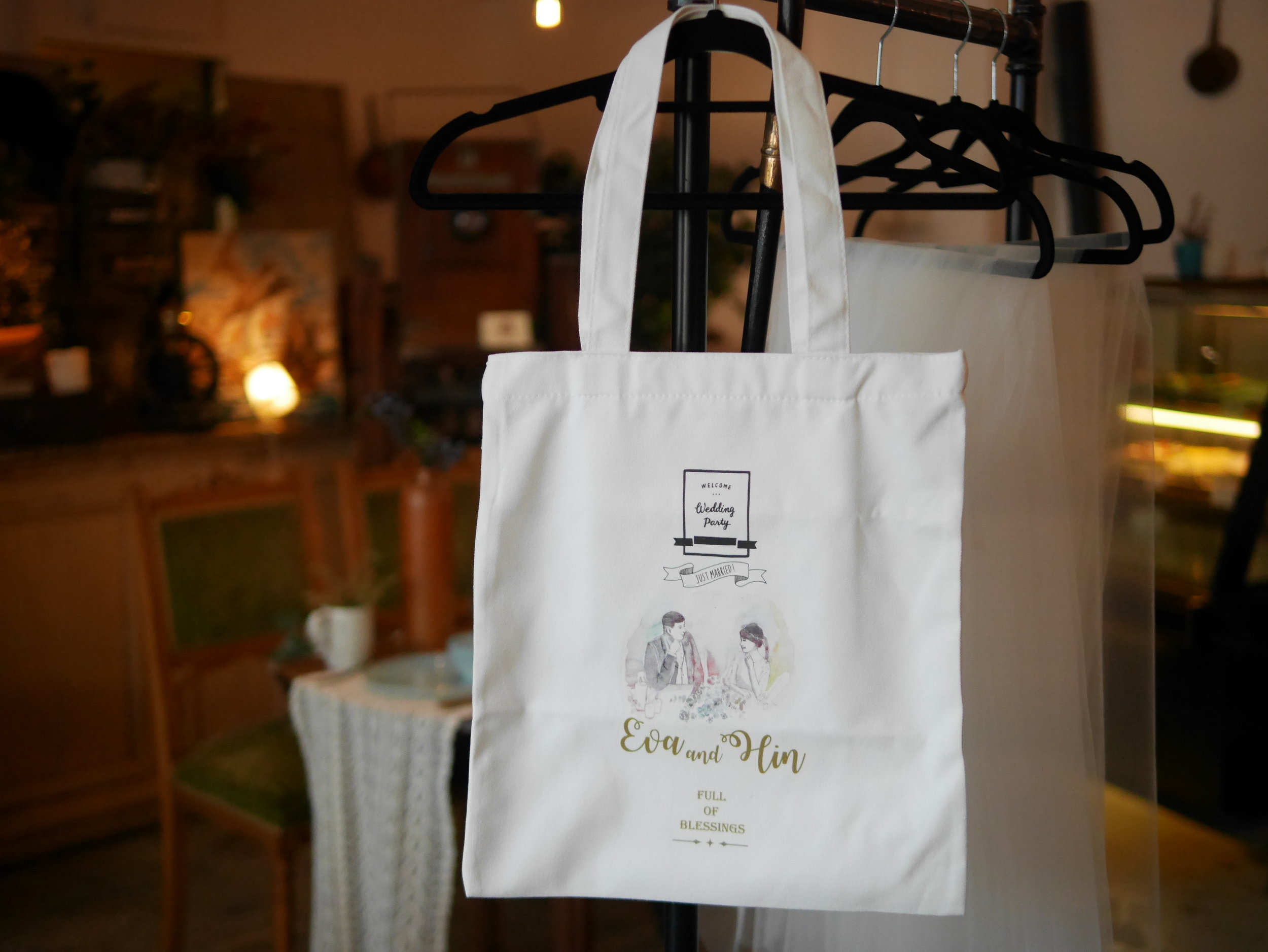 wedding bags - thank you gift to guests