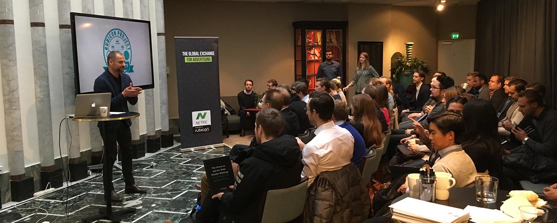 Our CEO Daniel Ahlbert kicks off #RubiUni, hosted alongside Rubicon Project