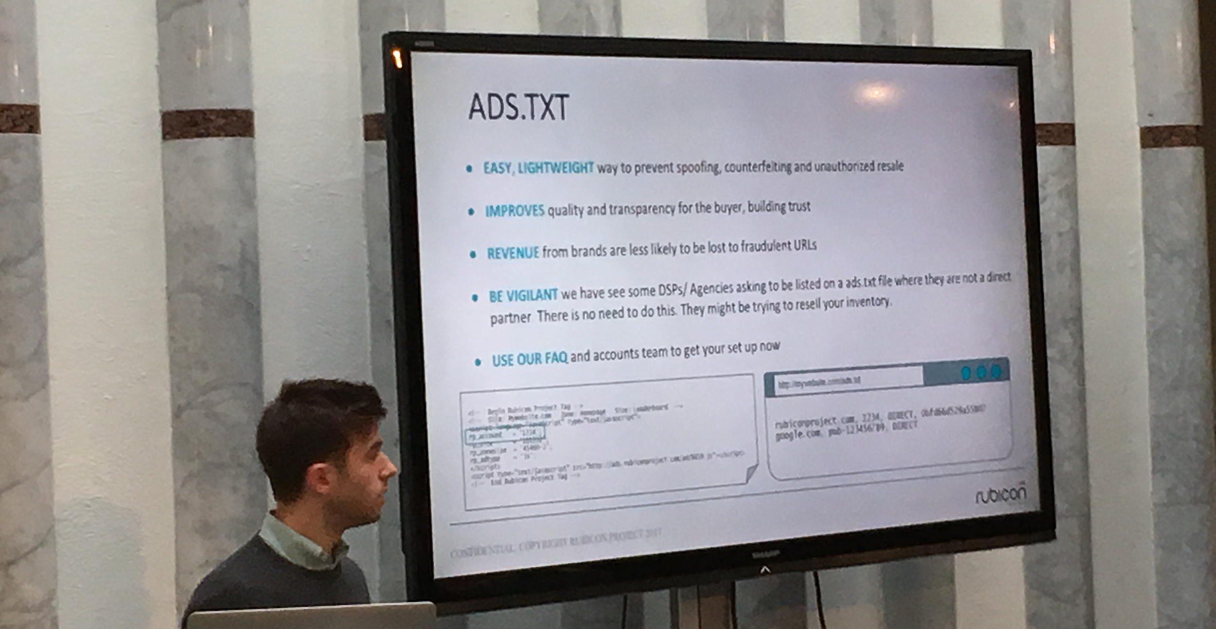 Rubicon Project Account Director Nathan Probert covering the benefits of ads.txt