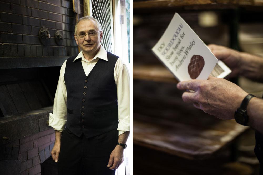 Andrew Whitley, sourdough baker & author.