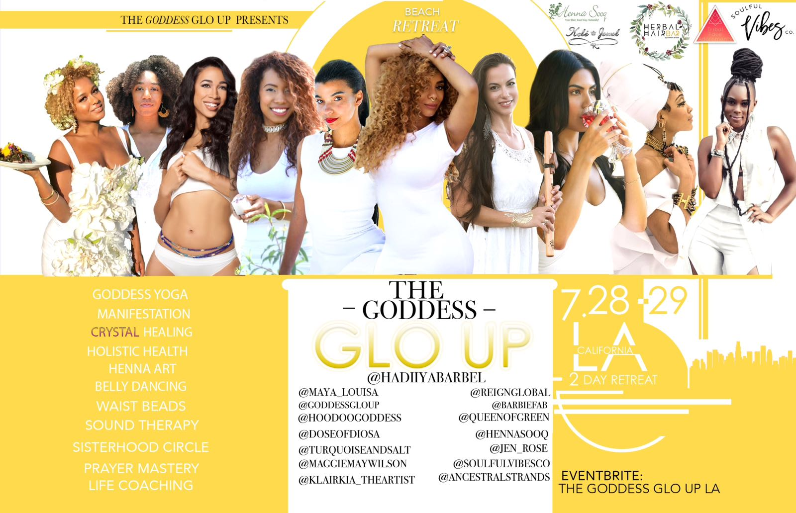 THE GODDESS GLO UP - Full Moon Weekend Goddess Retreat with East & West Coast QueensLos Angeles, July 28 & 29