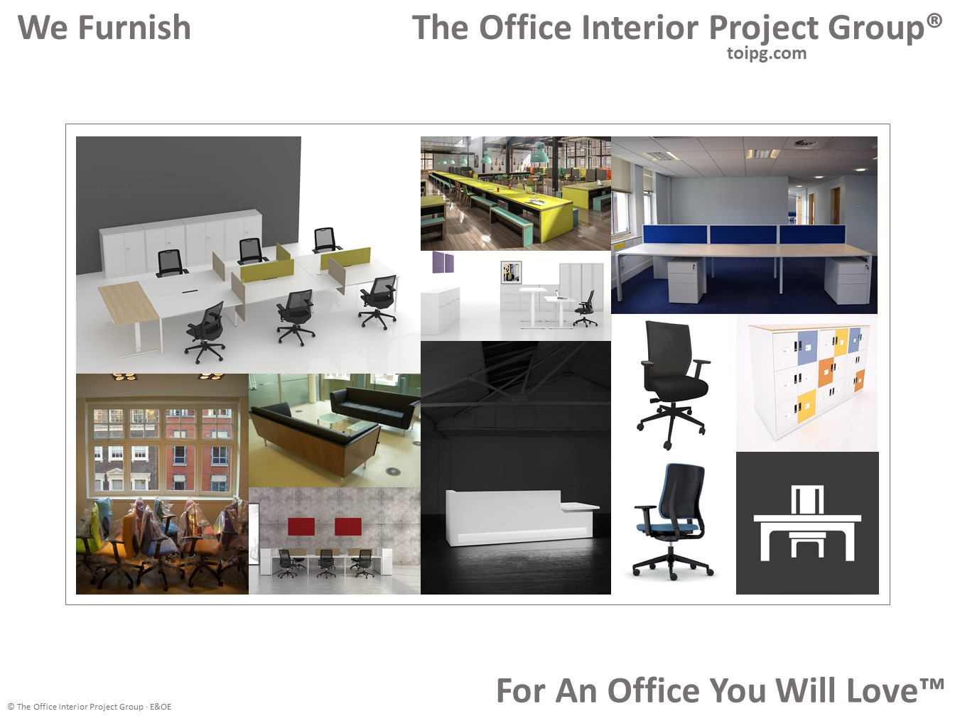 At The Office Interior Project Group®, We Furnish