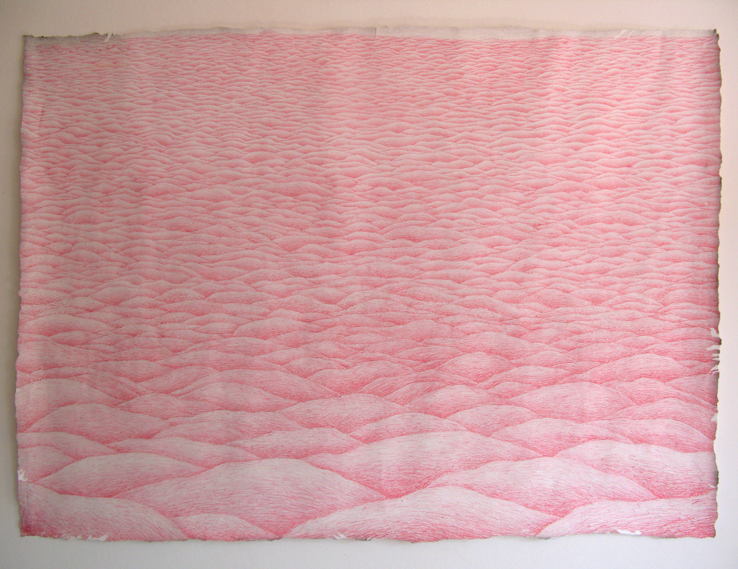 Uden Titel (Landskabsserie 1/4) / Untitled (Landscape series 1/4)  Kuglepen på papir / Ballpen on paper. 90x170cm. 2011
