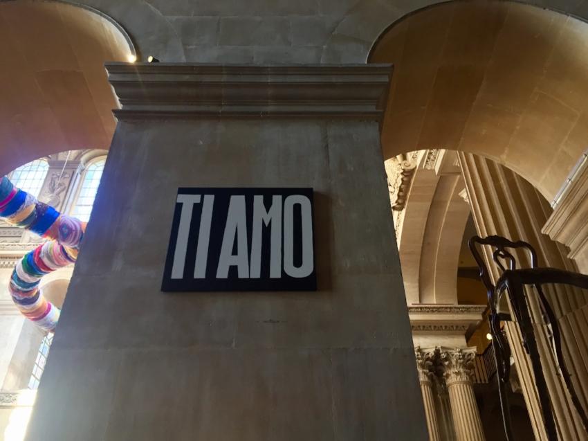 'Ti Amo' 2016 © Michaelangelo Pistoletto