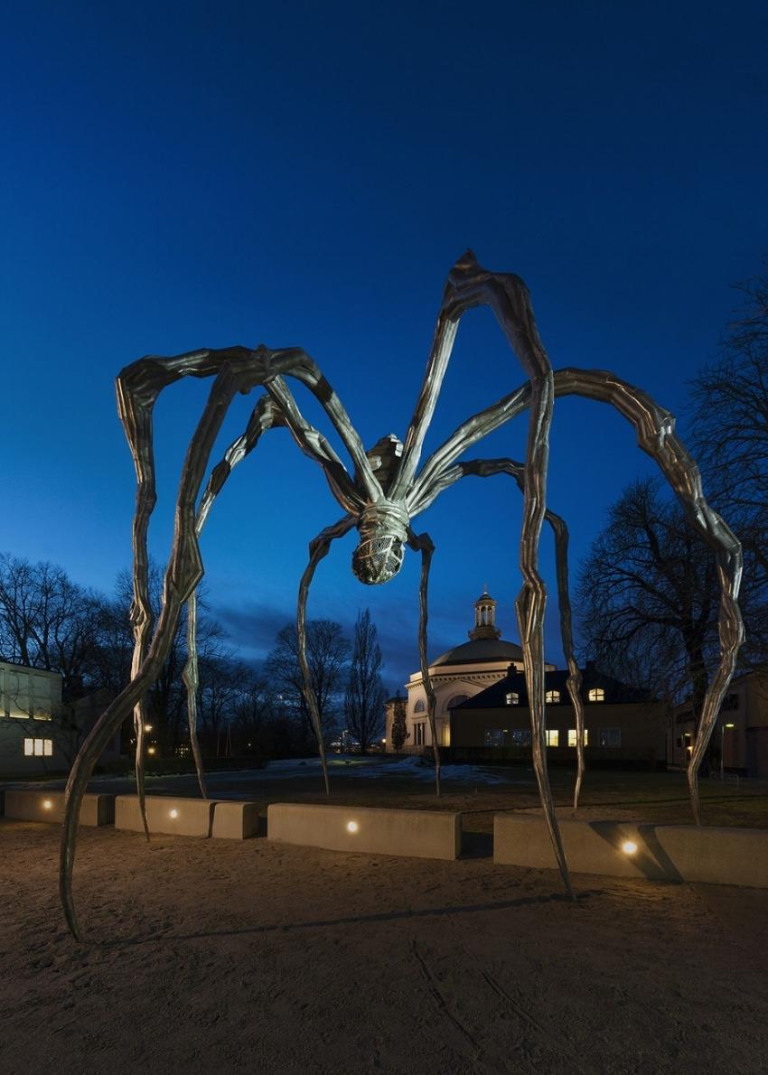 Installation view, Maman (1999) by the Moderna Museet's entrance, January, 2015 The Easton Foundation 2015. Photo Åsa Lundén_Moderna Museet.jpg