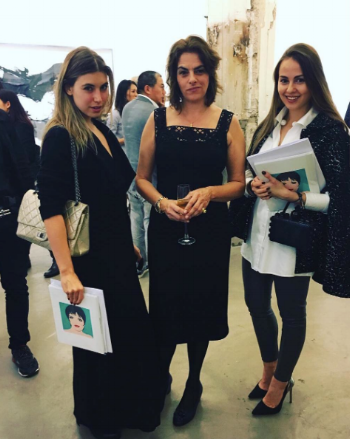 Tiziana des Pallieres, Tracey Emin and Maria Korolevskaya at Lehmann Maupin