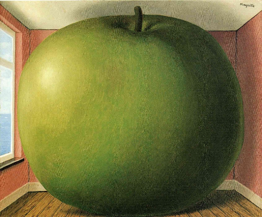 Rene Magritte 'The listening room' (La Chambre d'Écoute, 1952)