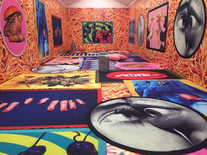 Installation view of Maurizio Cattelan & Pierpaolo Ferrari, 'SELETTI wears TOILETPAPER', Perrotin Gallery