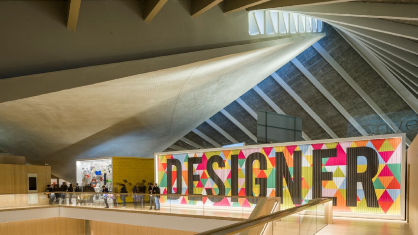 Inside view of the Design Museum new building. Photograph courtesy of Gareth Gardner