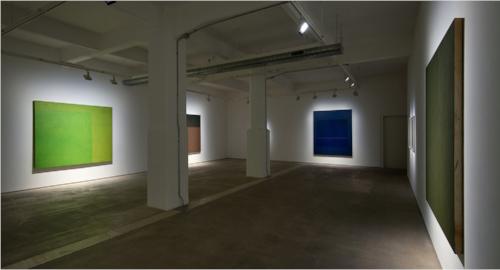 Installation view of Virginia Jaramillo exhibition at Hales Gallery