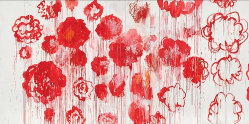 UNTITLED, (PEONY BLOSSOM PAINTINGS), 2007./ Photograph© Cy Twombly Foundation
