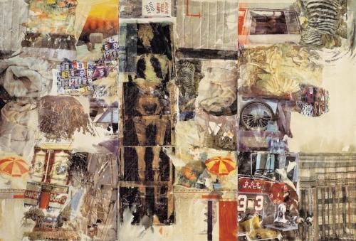 MIRTHDAY MAN [ANAGRAM (A PUN)], 1997, Collection Faurschou Foundation, © 2017 Robert Rauschenberg Foundation.
