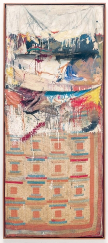 BED, 1955, Combine; The Museum of Modern Art, New York Gift of Leo Castelli in honor of Alfred H. Barr Jr. © 2017 Robert Rauschenberg Foundation.