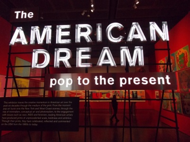 Istallation view of The American Dream exhibition at the British Museum