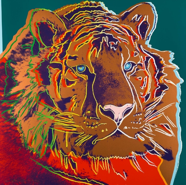 Andy Warhol, Siberian tiger, 1983 Courtesy of Halcyon Gallery