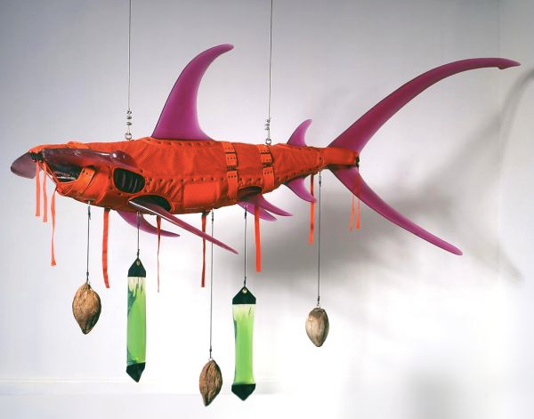 Ashley Bickerton, Orange Shark, 2008. Image courtesy the artist