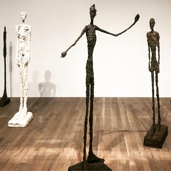 Alberto Giacometti's distinctive elongated figures at the Tate Modern' Retrospective. Image Courtesy: The Art Partners