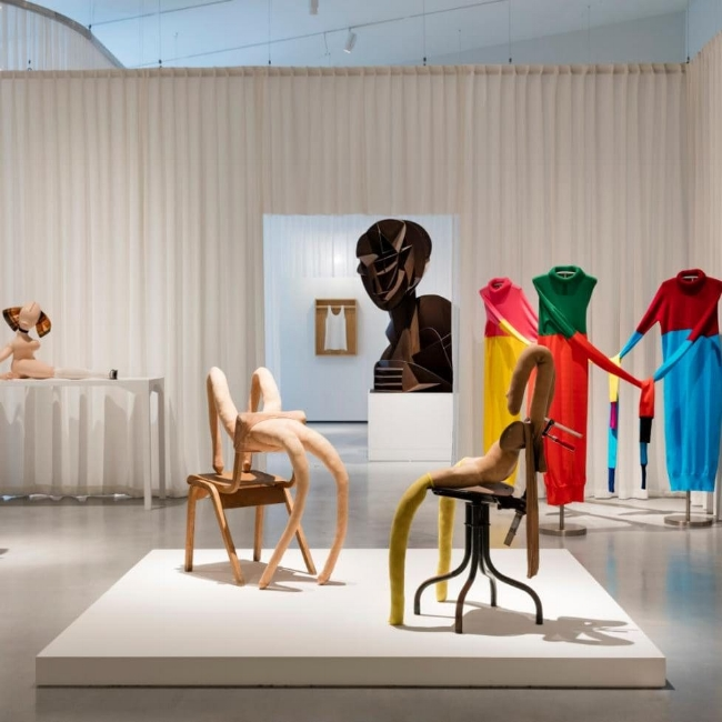 Sarah Lucas artworks at Disobedient Bodies: JW Anderson curates the Hepworth Wakefield. Photography is by Lewis Ronald.