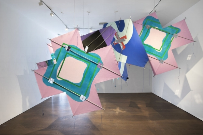 """Installation view of the exhibition """"Richard Smith: Five Decades"""" at Flowers gallery. Image courtesy of the gallery"""