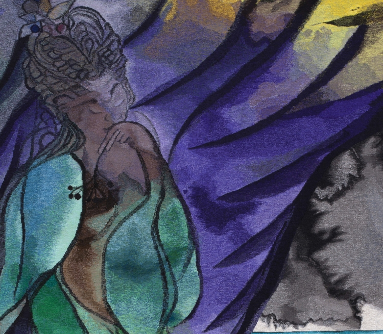 Chris Ofili,  The Caged Bird's Song , 2014–2017 (detail). © Chris Ofili. Courtesy the Artist and Victoria Miro, London, The Clothworkers' Company and Dovecot Tapestry Studio, Edinburgh.