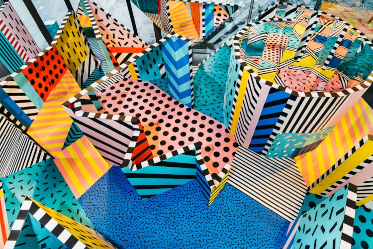 Camille Walala's exhibition view. Photo: Charles Emerson.