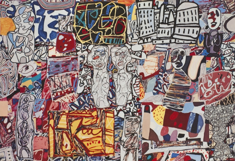 Jean Dubuffet, Theatre De Memoire (1977) at Pace Gallery, image courtesy of the gallery