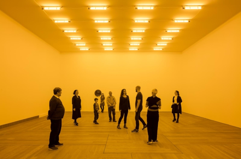 Olafur Eliasson, Room for one colour, 1997, installation view at Moderna Museet, Stockholm 2015 Photo: Anders Sune Berg