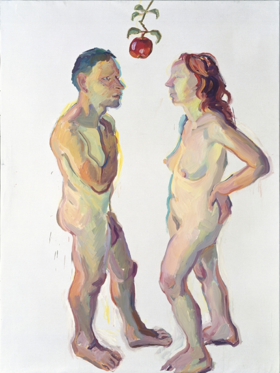 Adam and Eve by Maria Lassnig, image courtesy of the artist