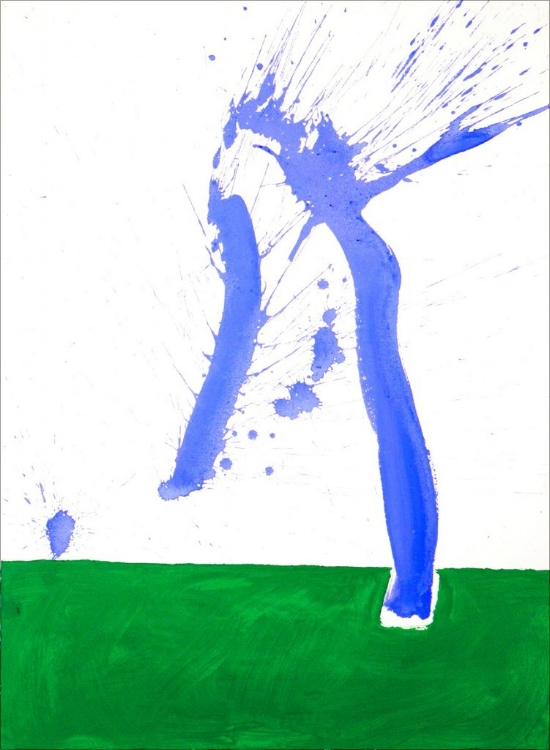 Robert Motherwell, Study in Watercolour No. 1 (In Green and Blue), 1968, Image courtesy of the gallery