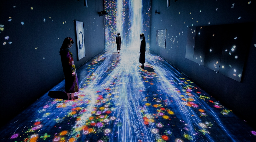 'Transcending Boundaries' at Pace Gallery. Photo Courtesy of The Pace Gallery © teamLab.
