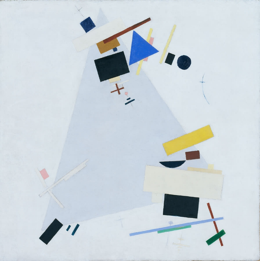 Kazimir Malevich, Dynamic Suprematism Supremus, c. 1915. Tate: Purchased with assistance from the Friends of the Tate Gallery 1978 Photo © Tate, London