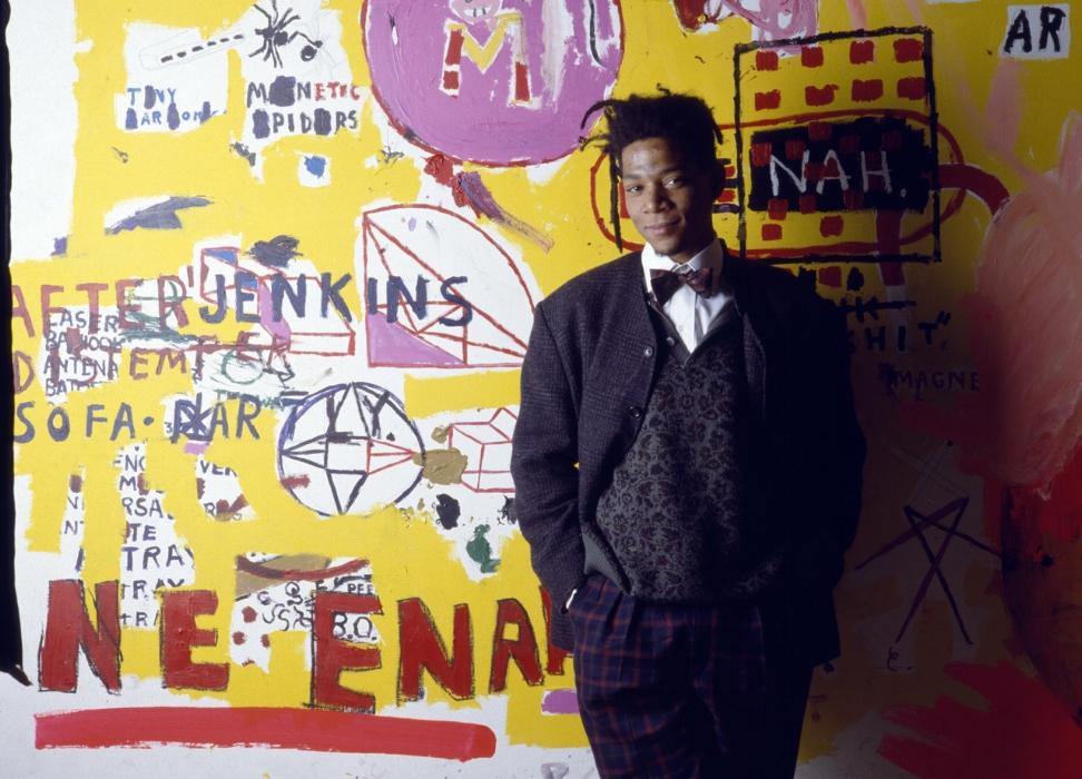 Jean-Michel Basquiat in 1988 (Credit: Julio Donoso/Sygma/Corbis)