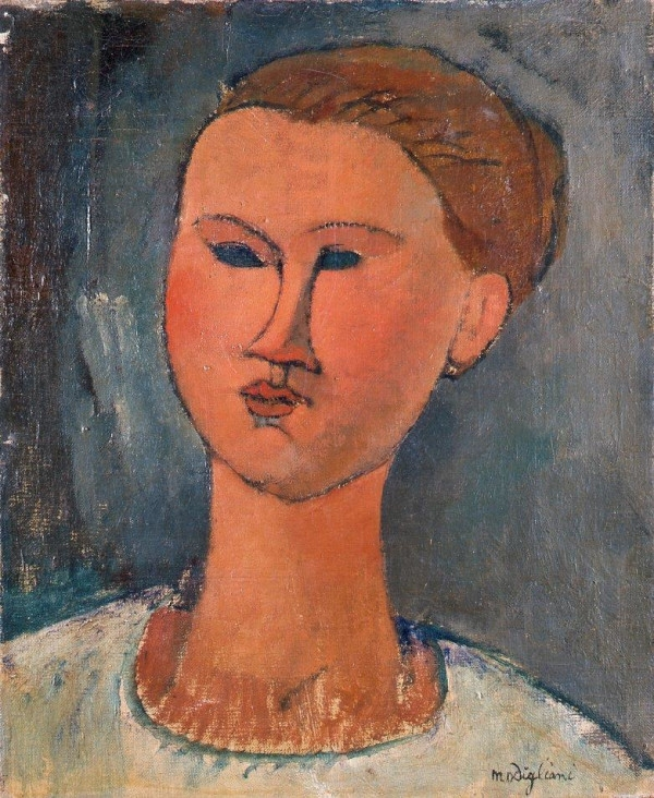 Amedeo Modigliani, Head of a Young Lady (1915)