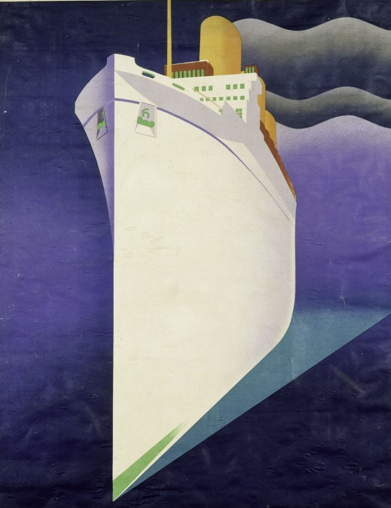 Empress of Britain colour lithograph poster for Canadian Pacific Railways, J.R. Tooby, 1920 – 31. Museum no. E.2215-1931. © Victoria and Albert Museum, London