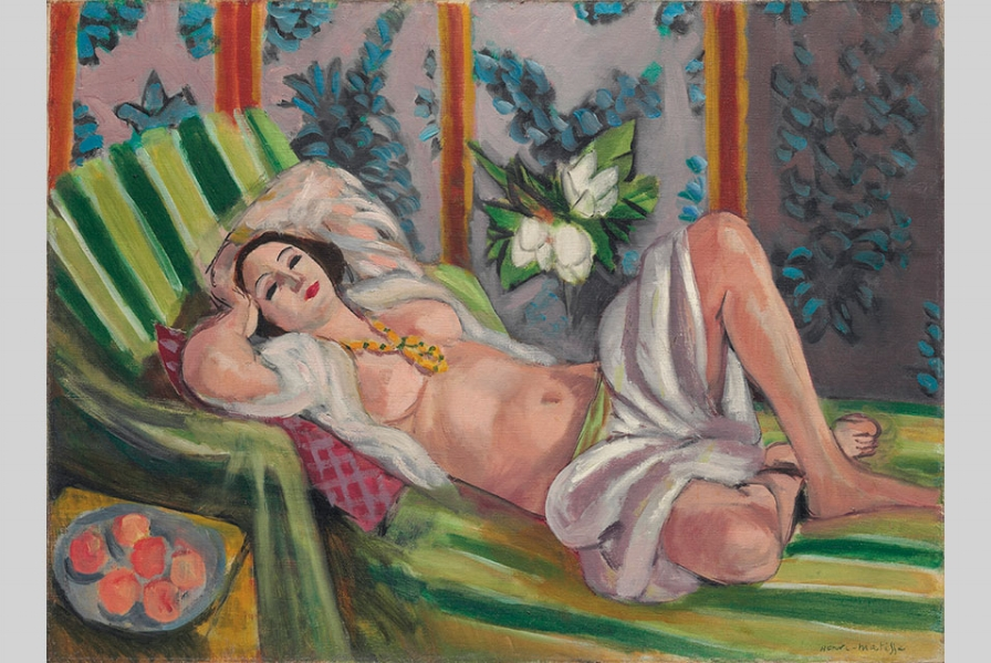 Henri Matisse, Odalisque couchée aux magnolias (1923). Photo: courtesy of Christie's.