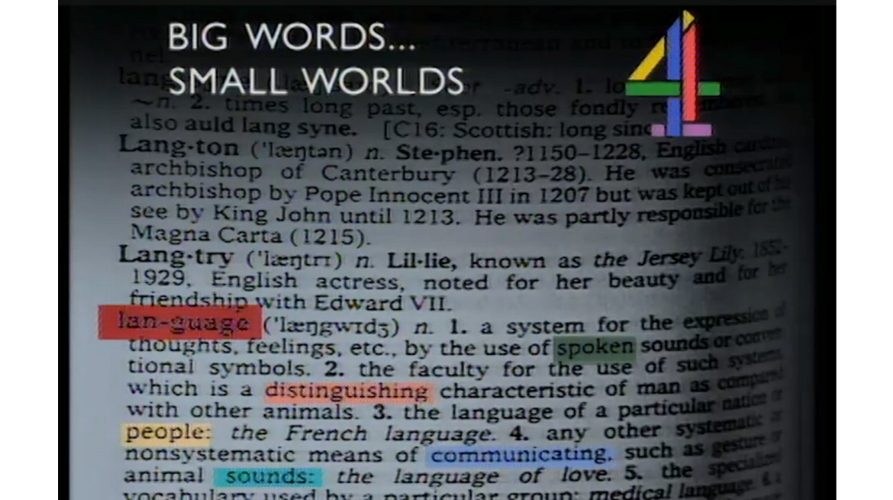 Big Words…Small Worlds, 1987